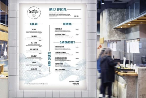 Backlit Menu
